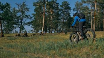 mountain biking alone